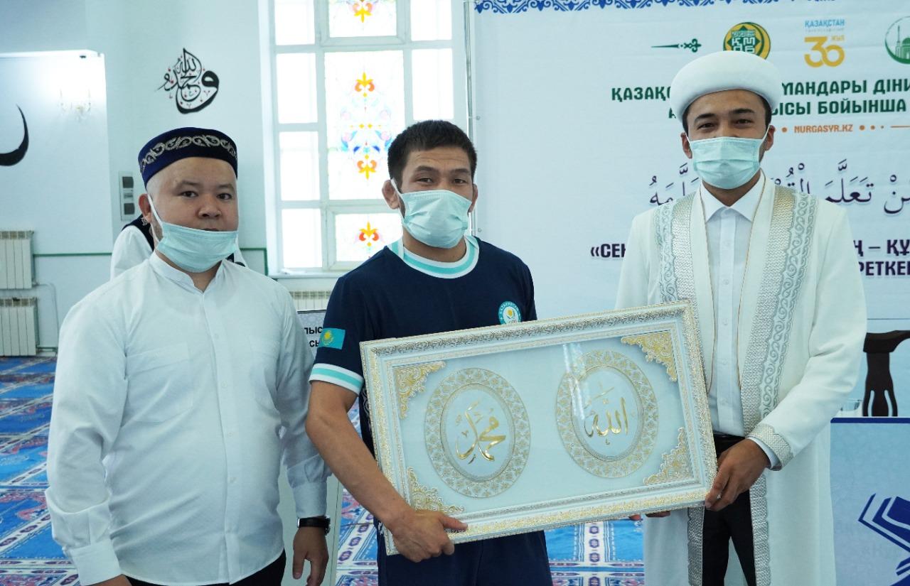Ақтөбе: Бас имам Токио олимпиадасының қола жүлдегері Нұрислам Санаевты жеңісімен құттықтады